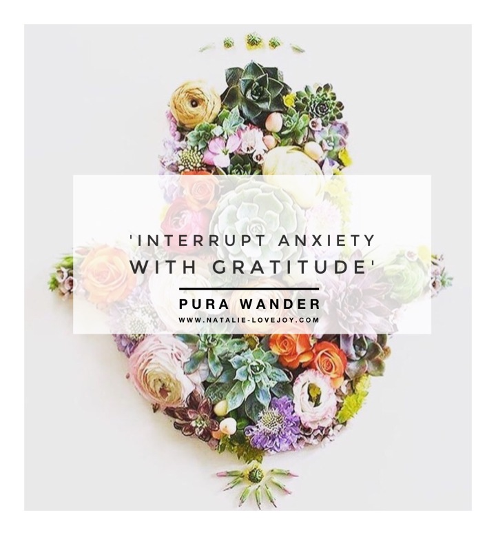 Interrupt anxiety with gratitude…